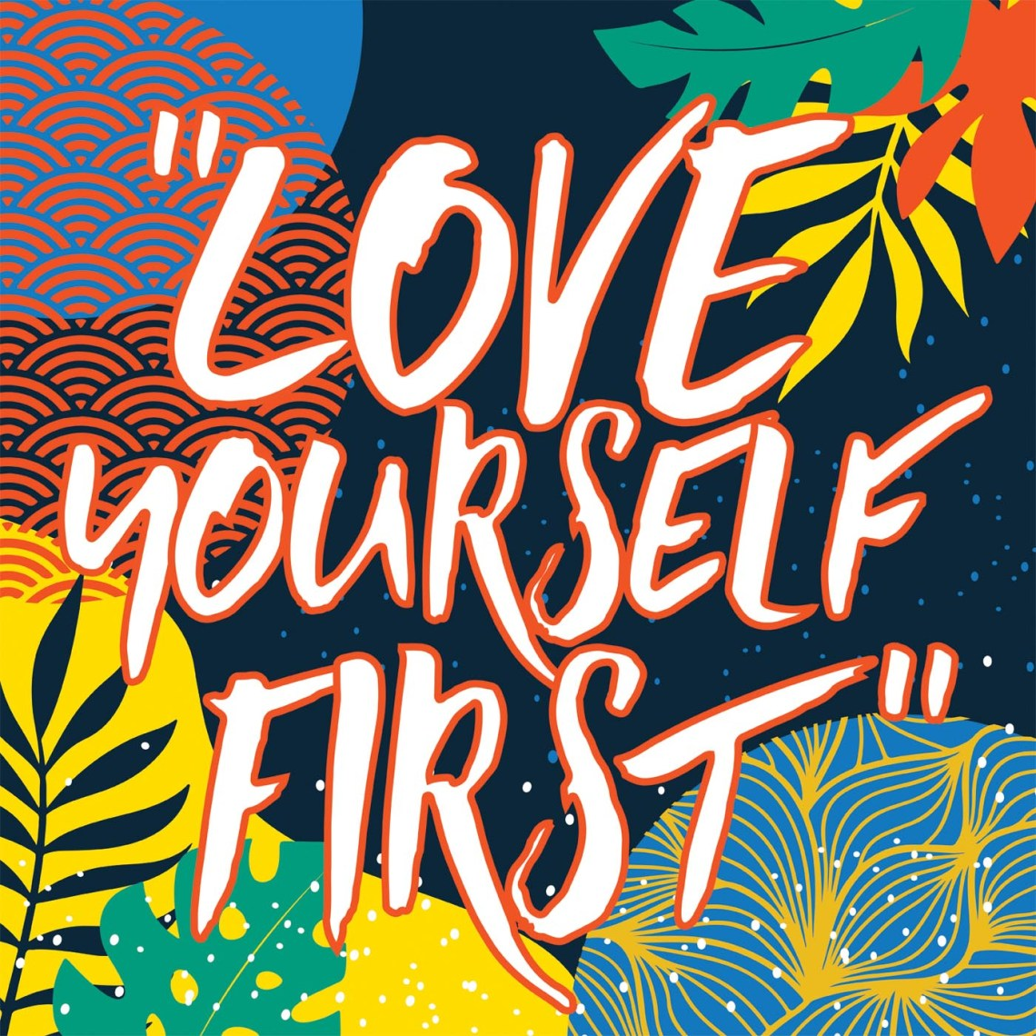 Download Love Yourself Typography Vector Design - Download Free ...