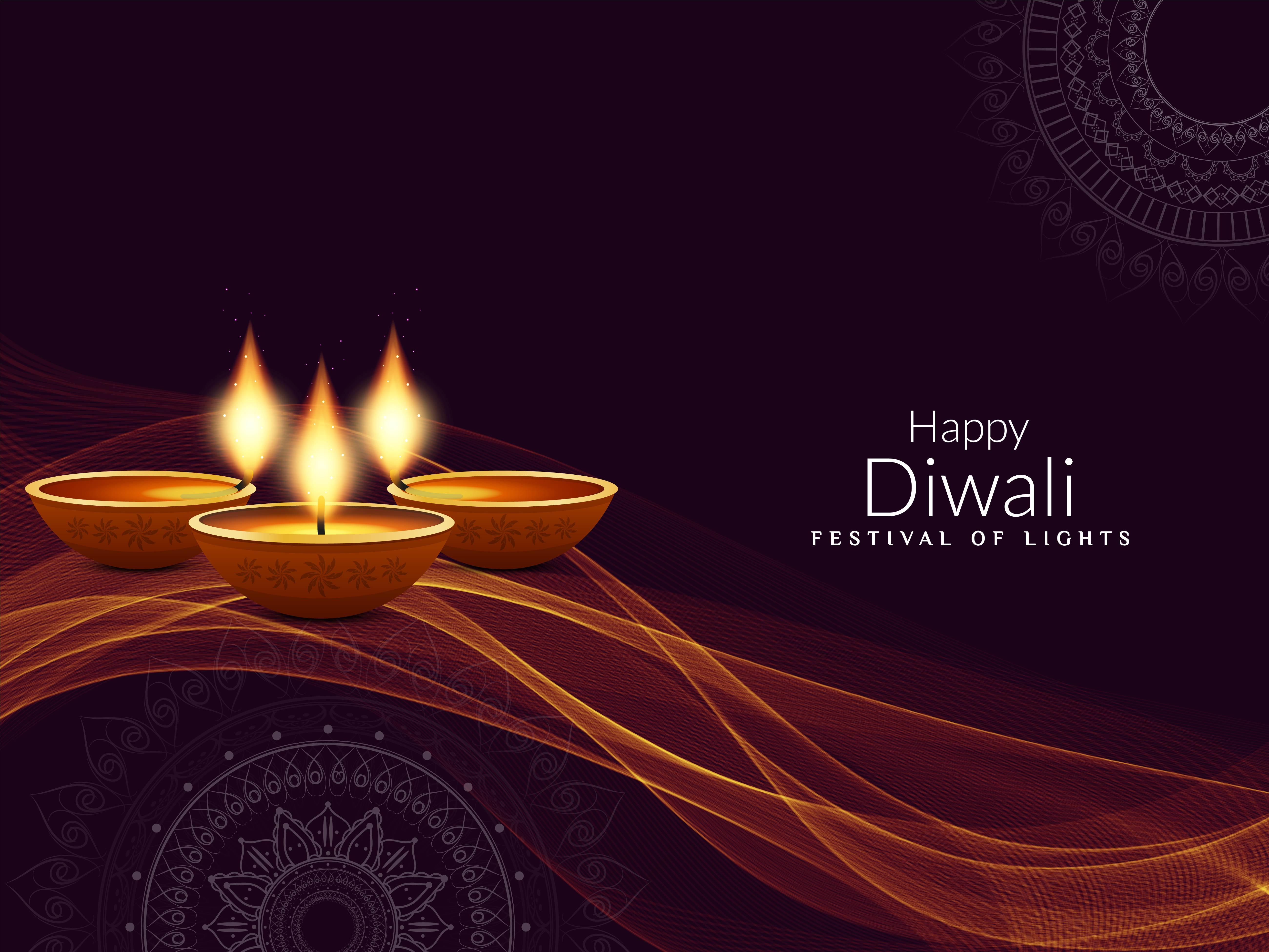Diya Wallpaper Hd Abstract Happy Diwali Religious Elegant Background