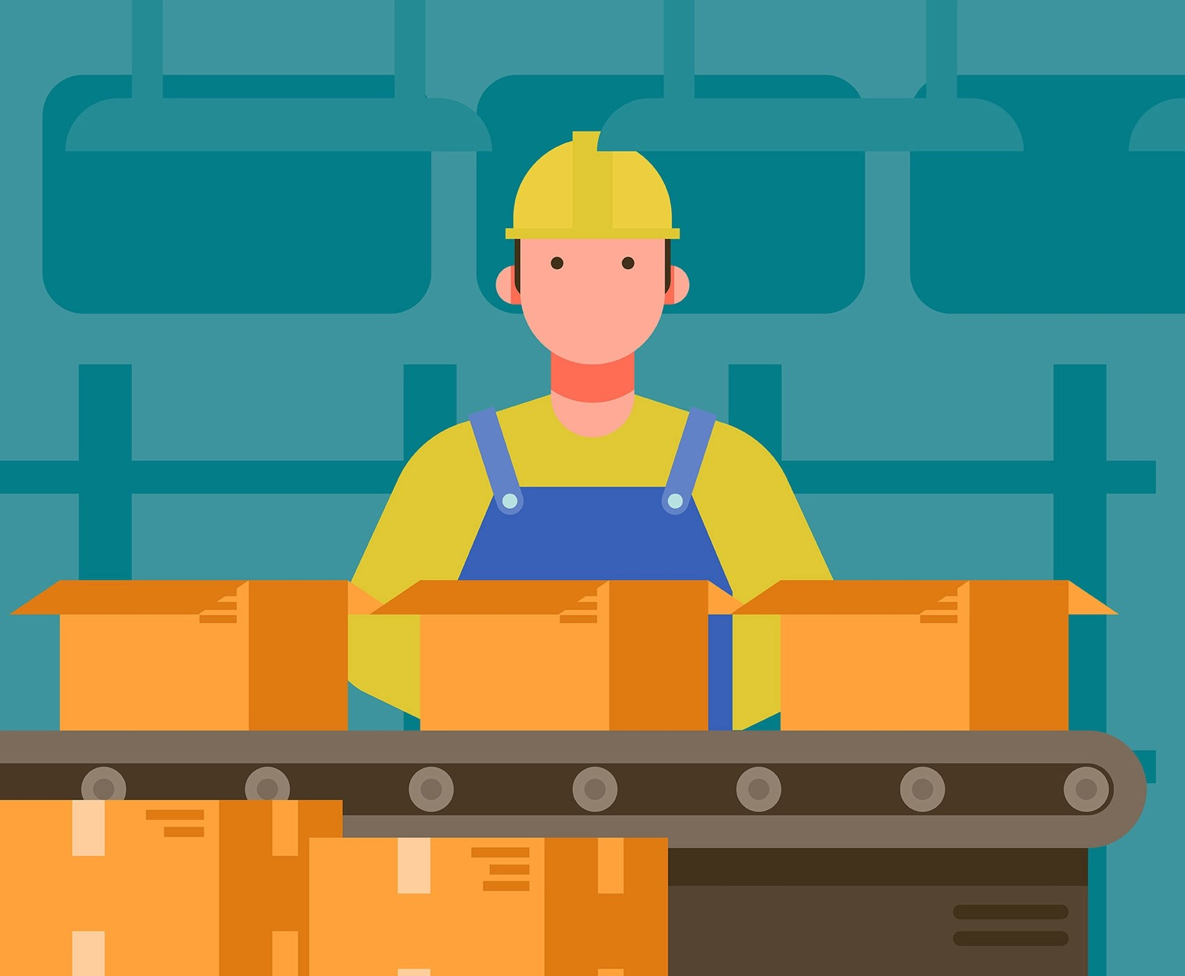 Factory Worker Illustration  Download Free Vector Art Stock Graphics  Images
