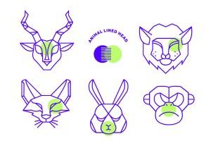 geometric animal simple animals shape vector head line vectors lion clipart tiger icons graphics balint sebestyen pro vecteezy