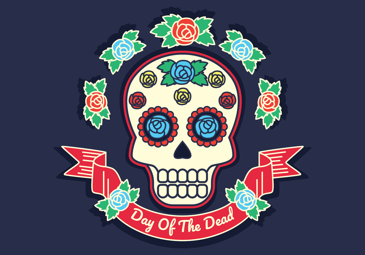 hight resolution of day of the dead vector illustration download free vector art stock graphics images