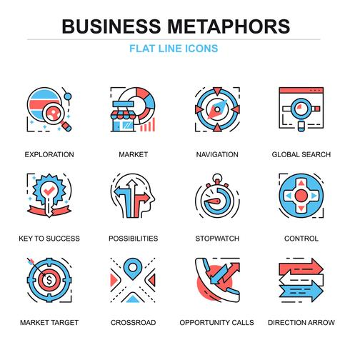business process icon set
