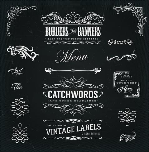 calligraphic frames and banners
