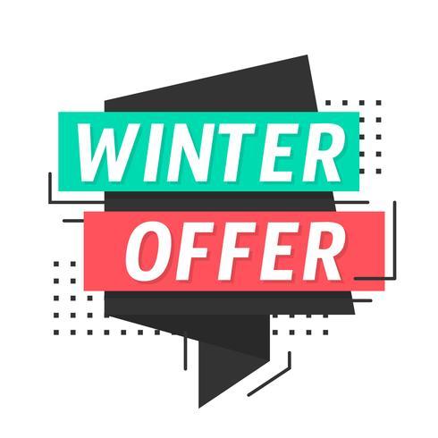 Oferta de invierno - Descargar Vectores Gratis, Illustrator Graficos, Plantillas Diseño
