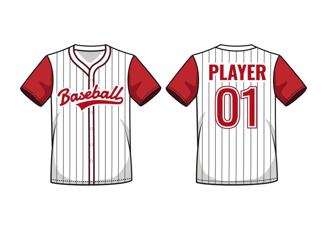 Download Pinstripe Baseball Jersey Mockup - Download Free Vectors ...