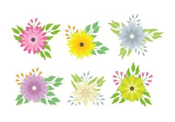 Flower Clipart set Download Free Vectors Clipart Graphics & Vector Art