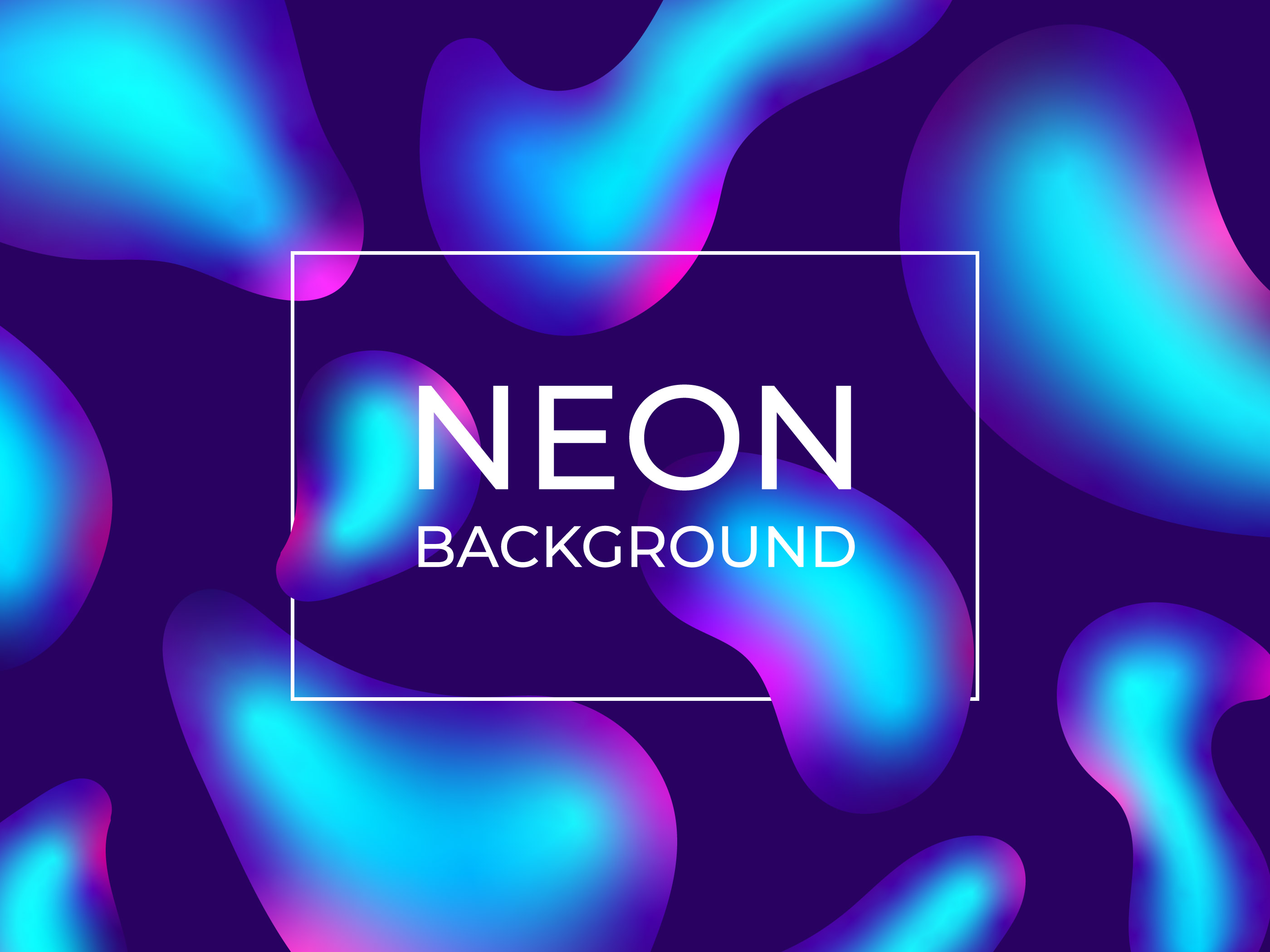 3d Geometric Shapes Wallpaper White Neon Fluid Abstract Background Download Free Vectors