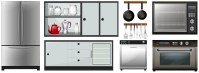 Kitchen appliances and furniture - Download Free Vectors ...
