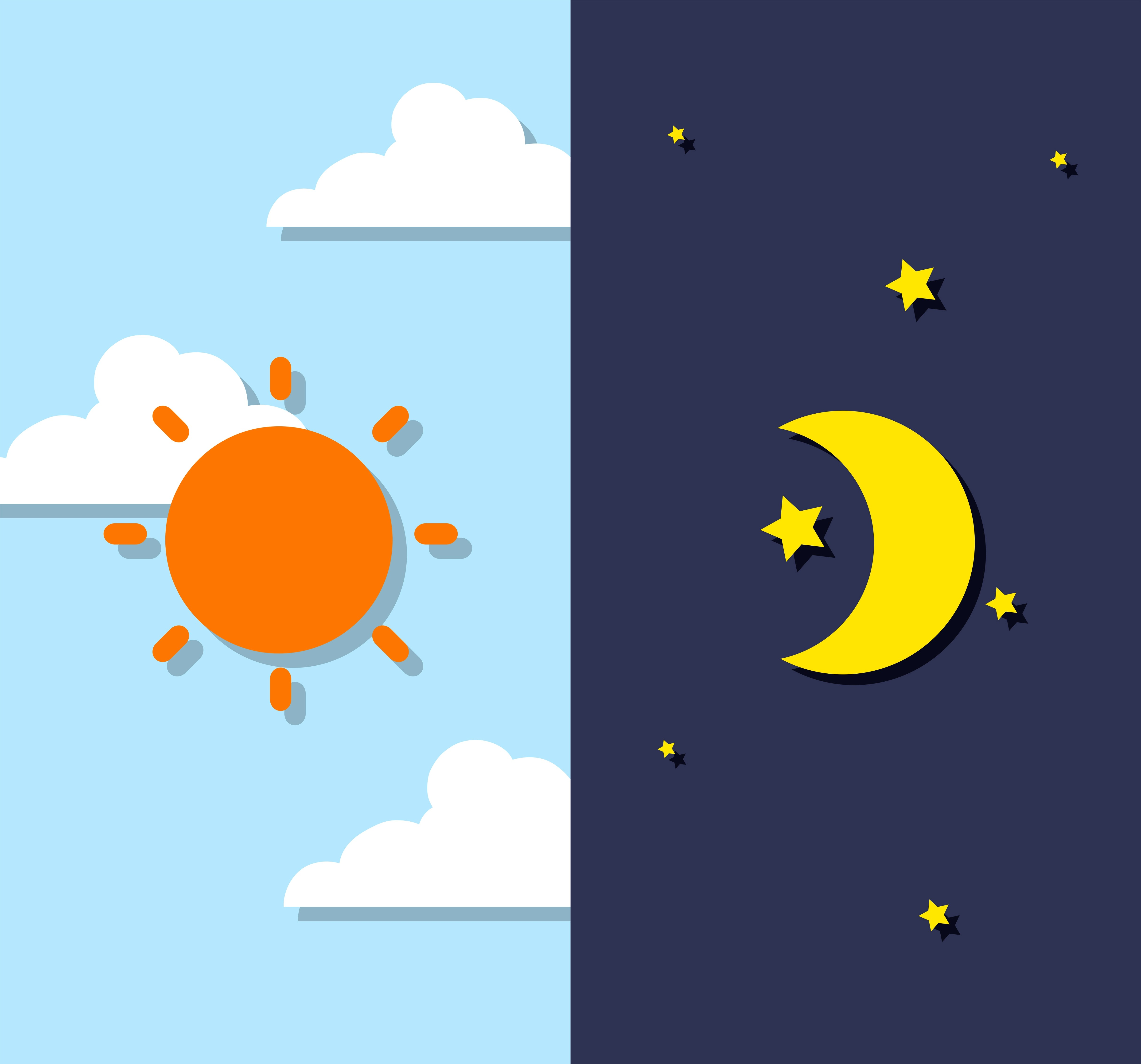 Day And Night Sky
