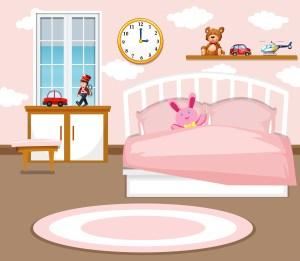 bedroom background vector clipart illustration vecteezy template sleeping