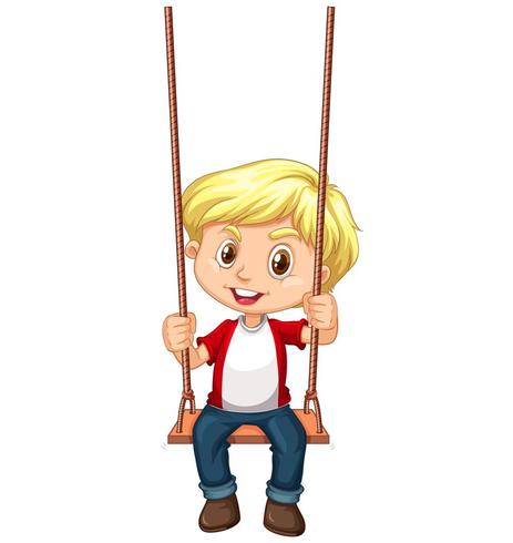 A boy sitting on swing  Download Free Vector Art Stock