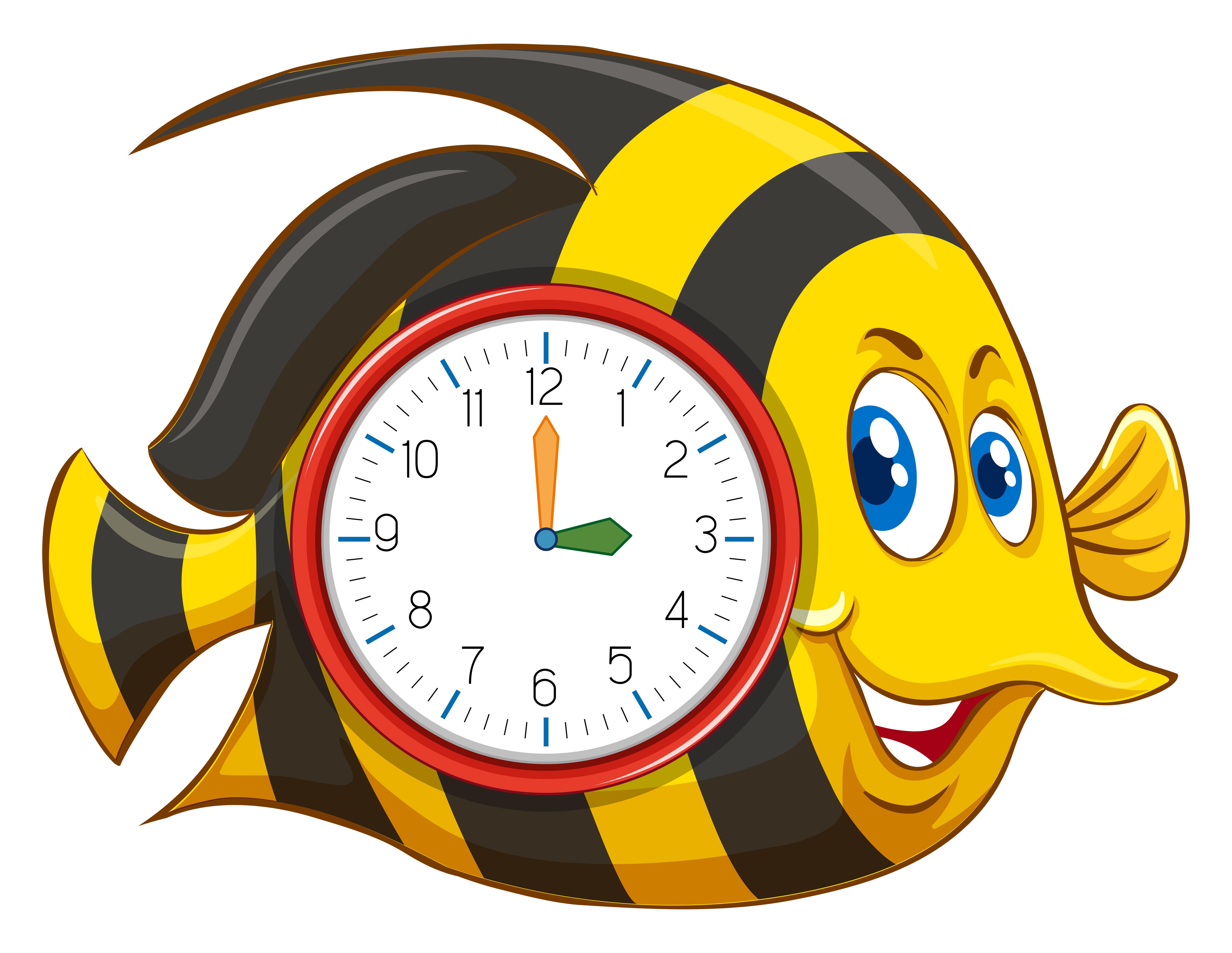 Cute Fish Themed Clock