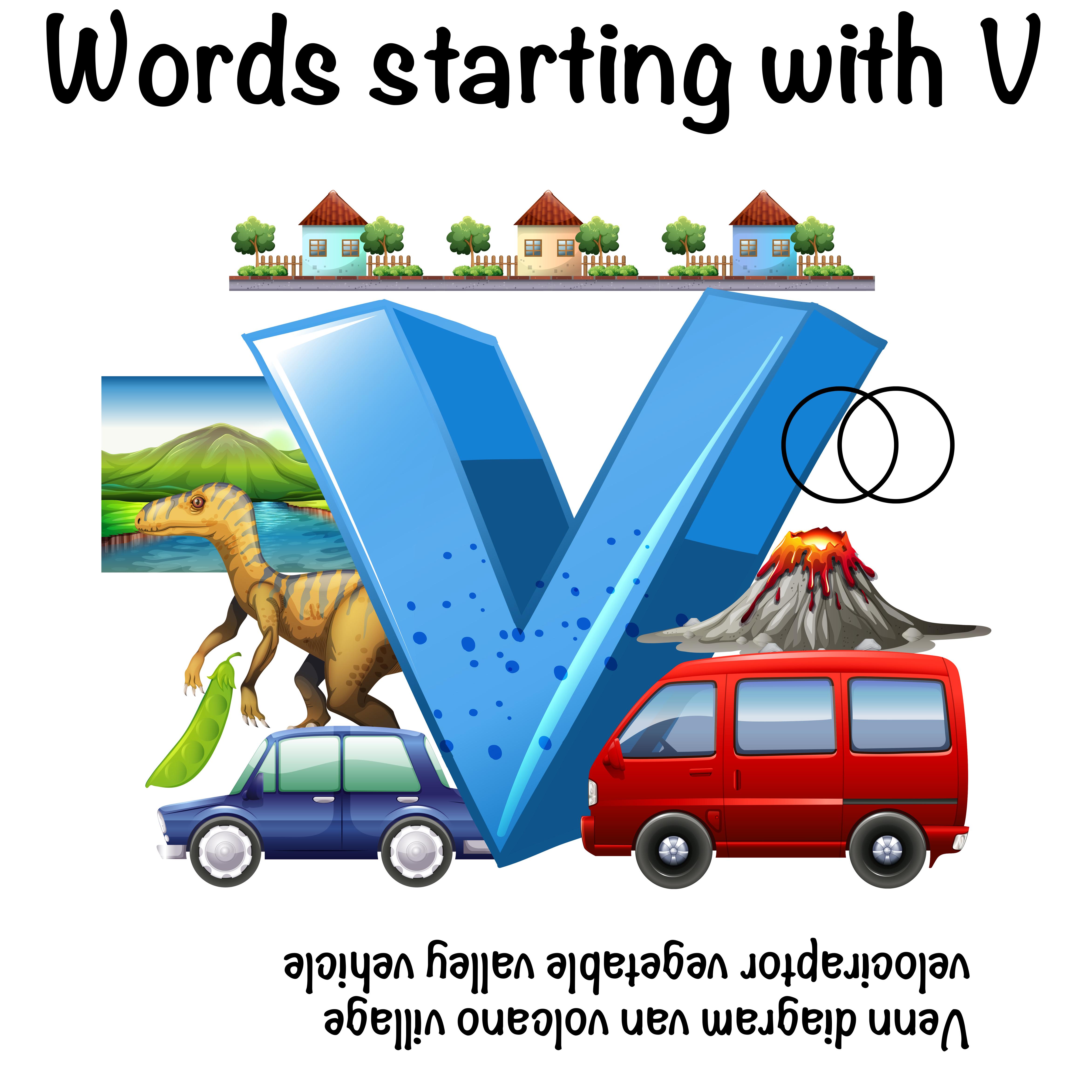 Worksheet Design For Words Starting With V