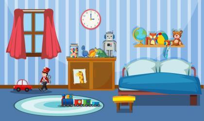 A cute bedroom template Download Free Vectors Clipart Graphics & Vector Art
