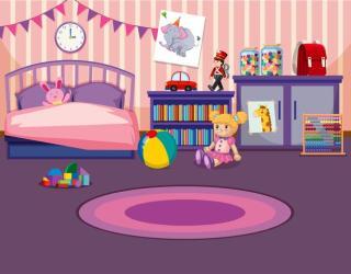 Young girls bedroom interior Download Free Vectors Clipart Graphics & Vector Art
