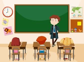 Student Classroom Cartoon