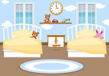 Interior kids bedroom background Download Free Vectors Clipart Graphics & Vector Art