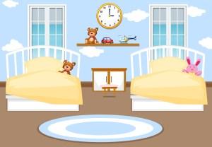 bedroom interior background vector bed graphics clipart child cartoon template vectors young illustration freepik rf doll vecteezy