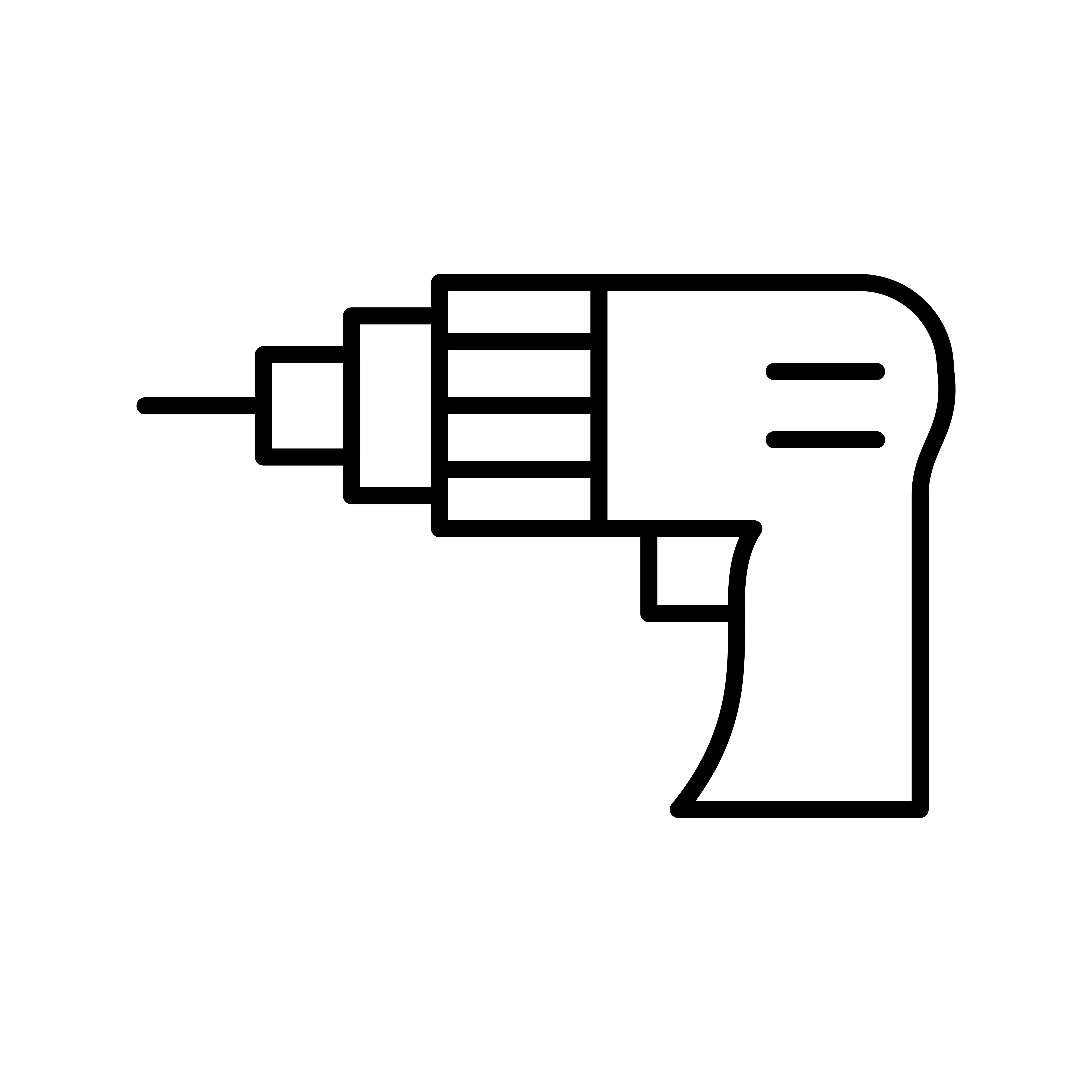 Drill Machine Line Black Icon