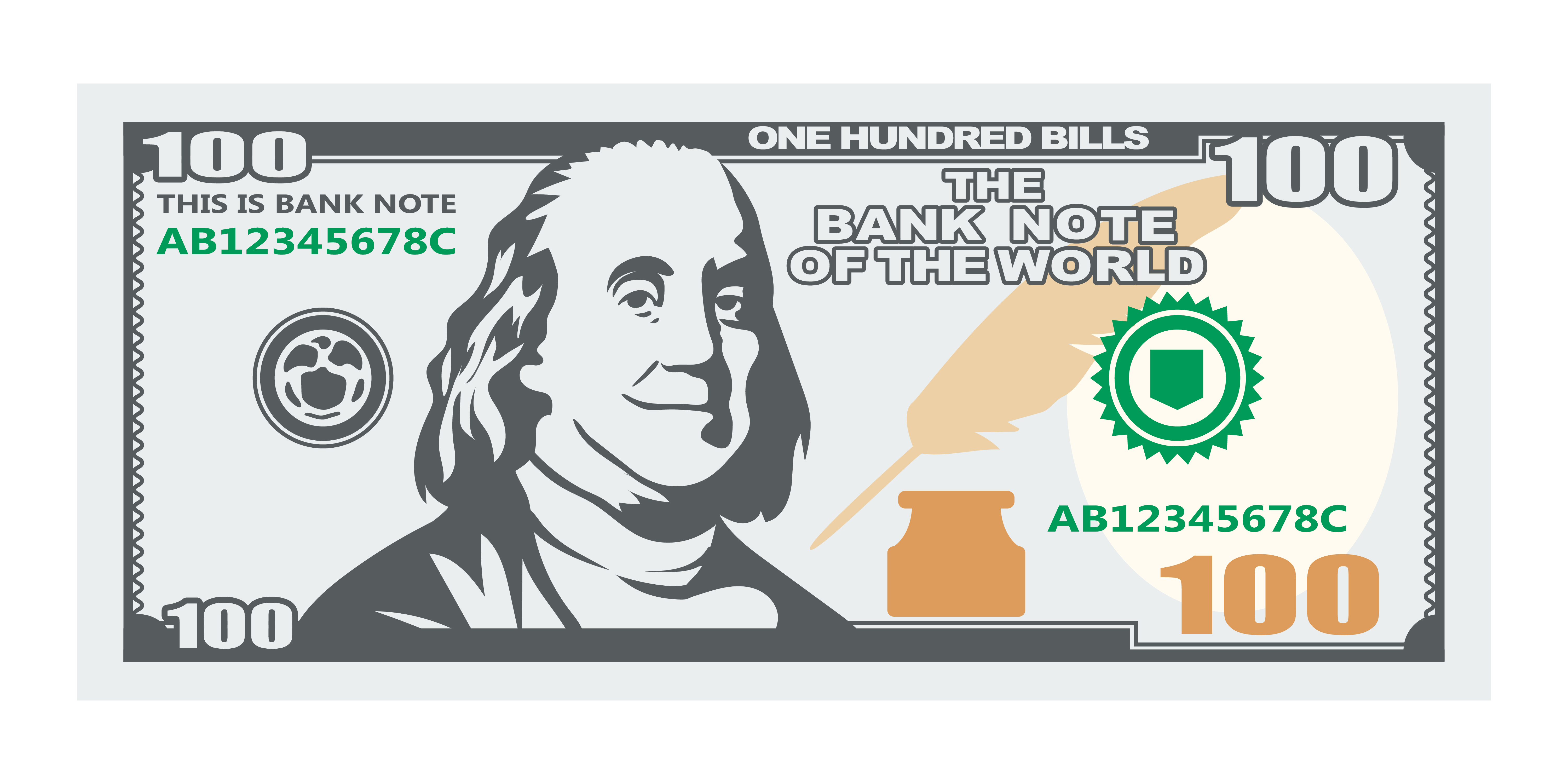 One Hundred Banknote With Smiling President