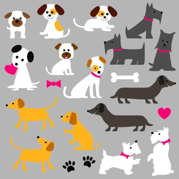 Cute Dog Clipart - Free Vector Art Stock