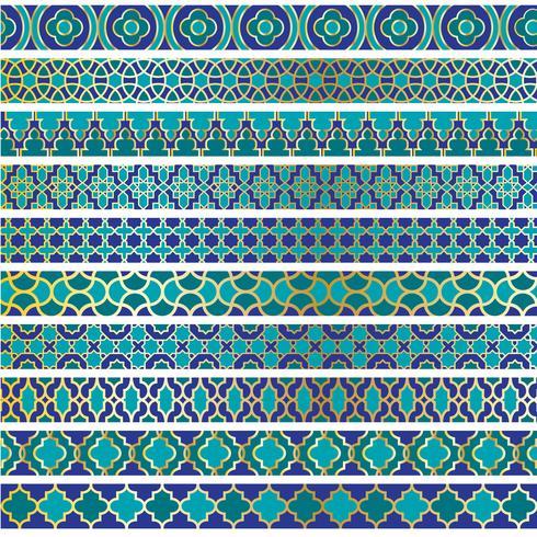 blue gold moroccan border