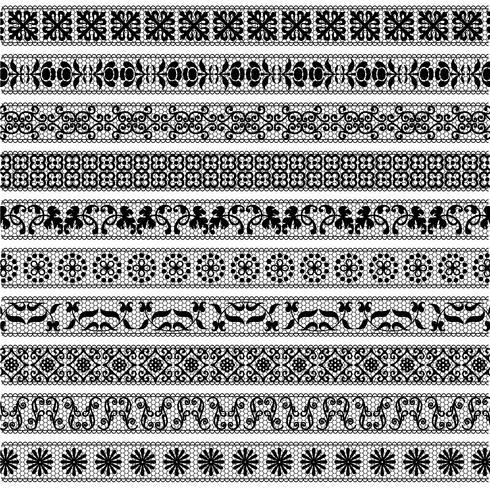 black lace border patterns