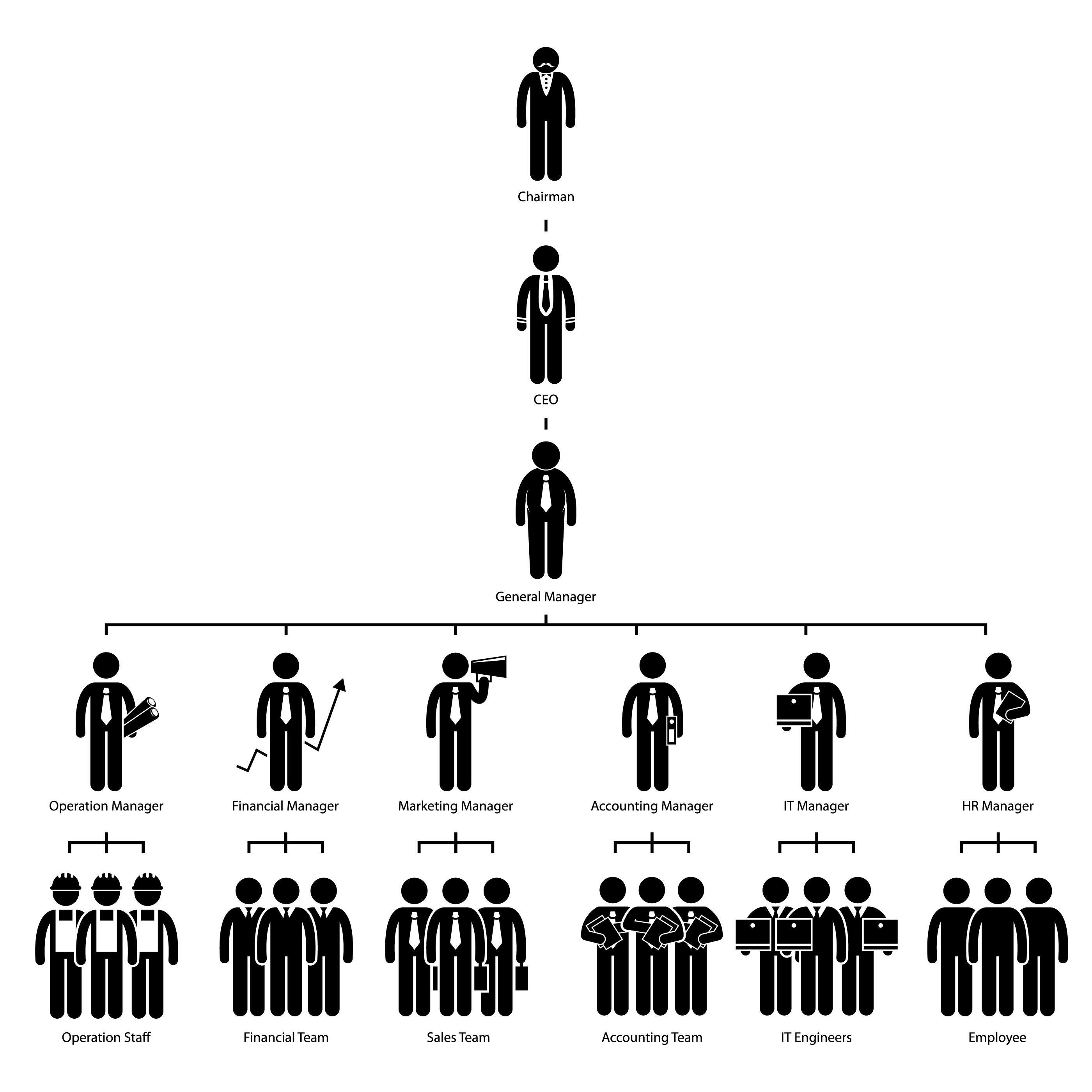Organization Chart Tree Company Corporate Hierarchy
