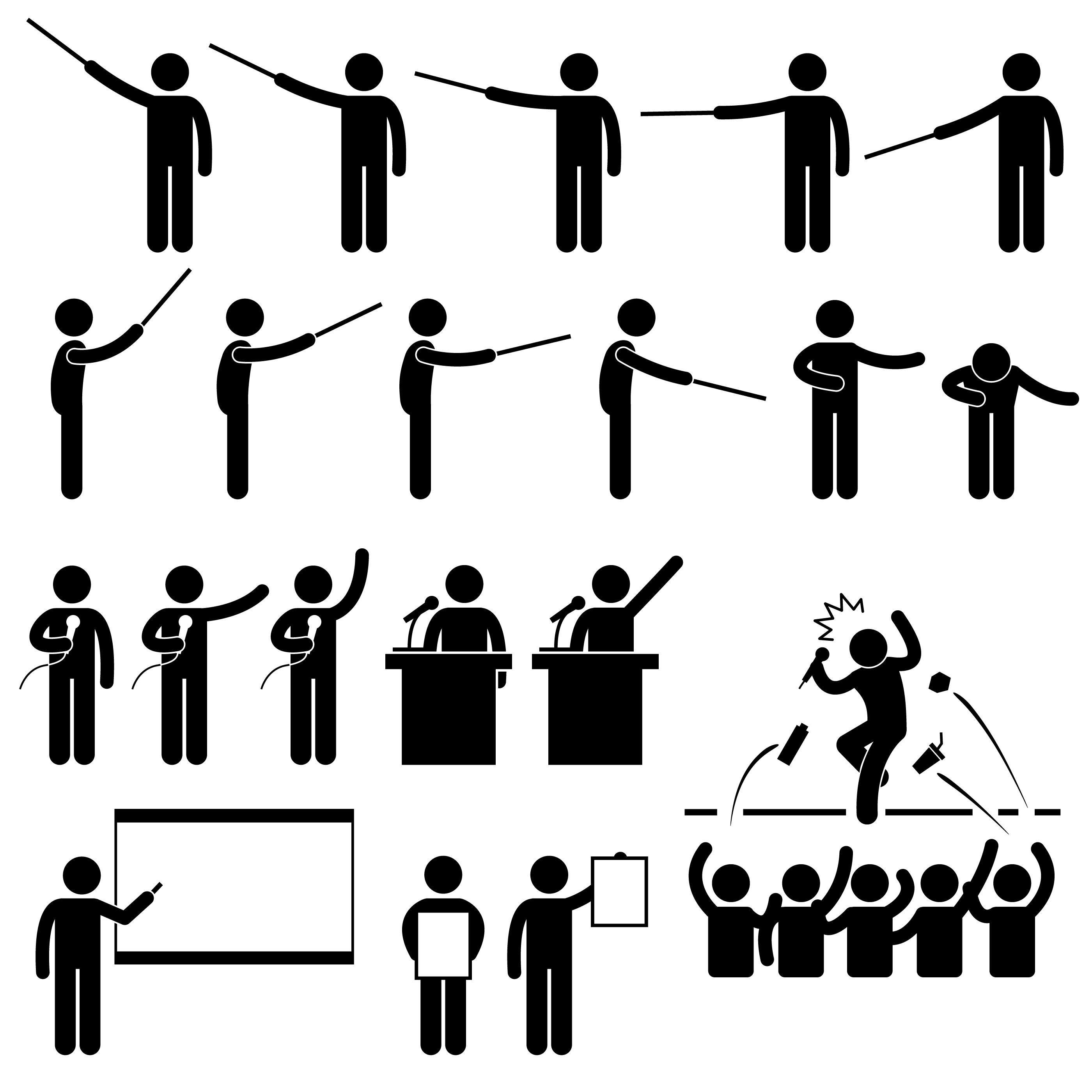 Speaker Presentation Teaching Speech Stick Figure