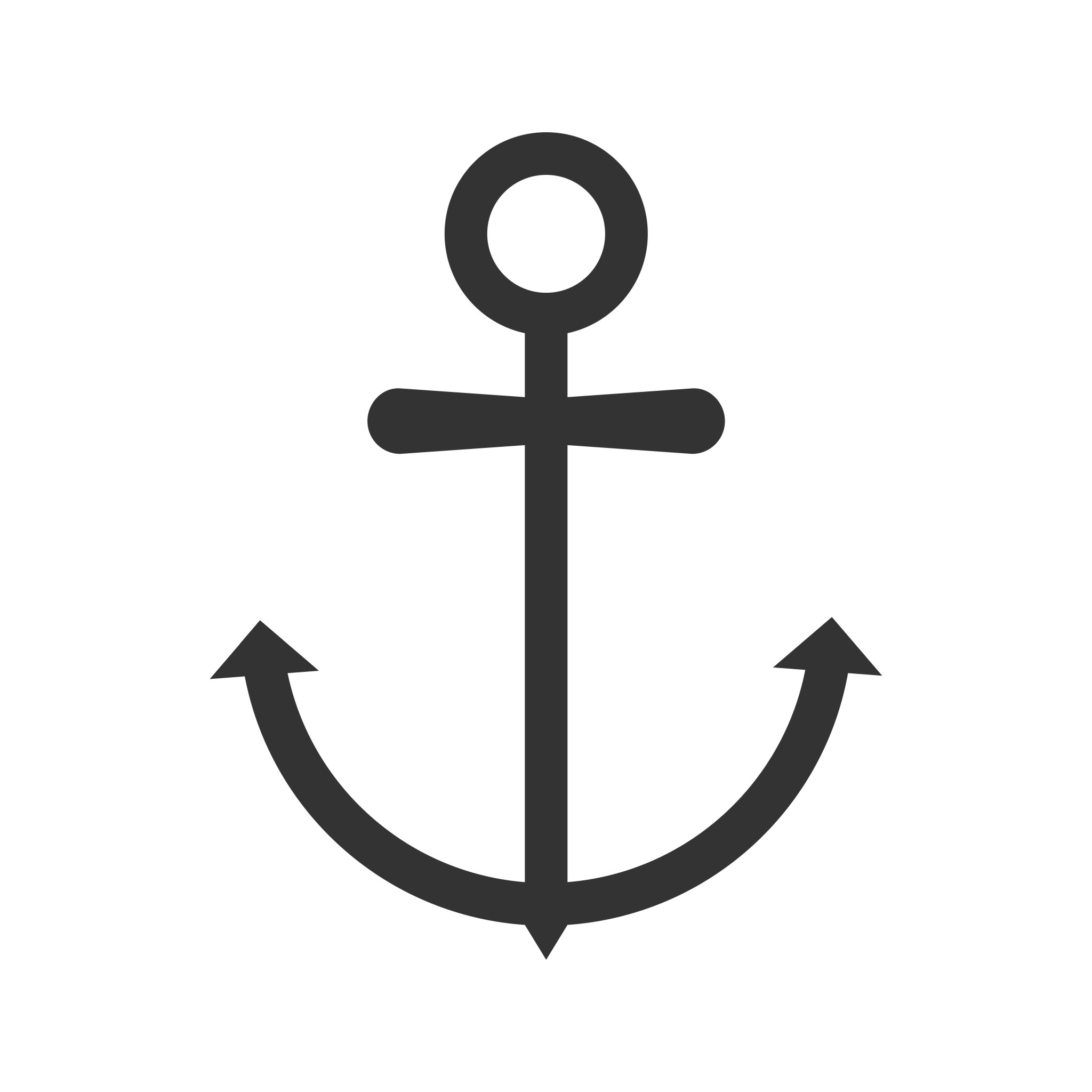Anchor Glyph Icon