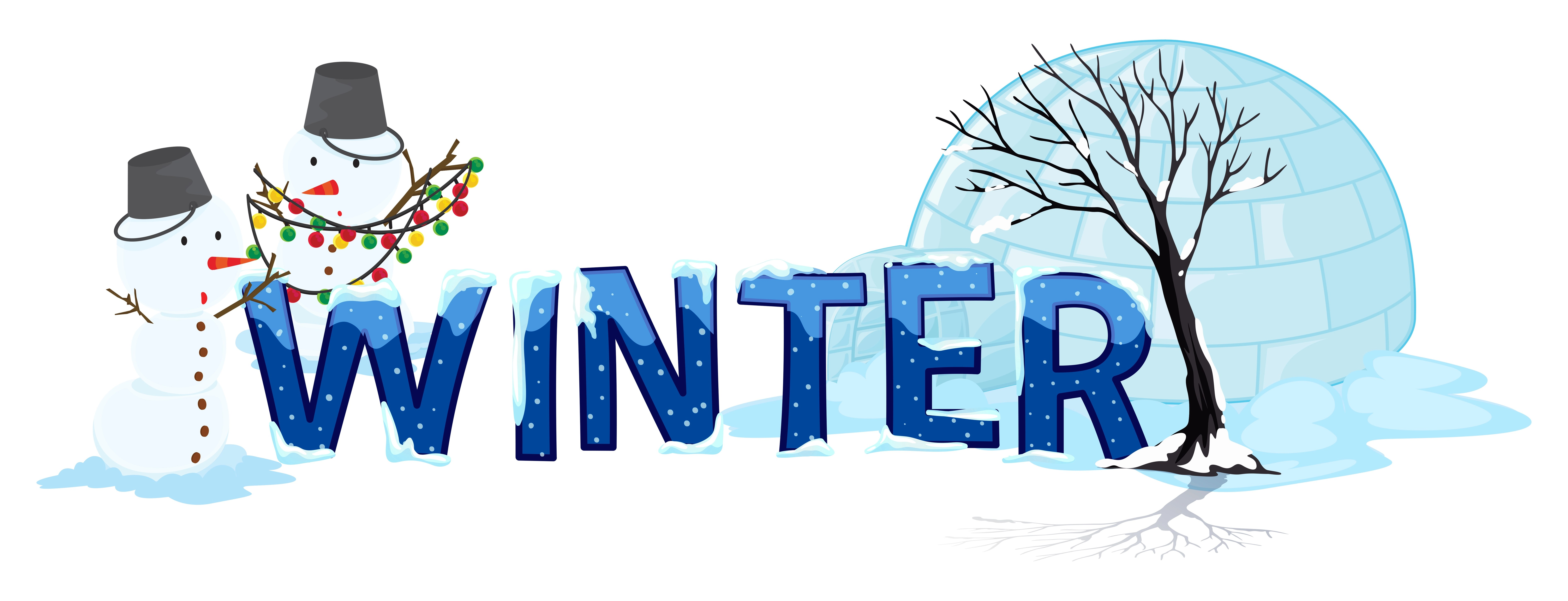 Font Design With Word Winter