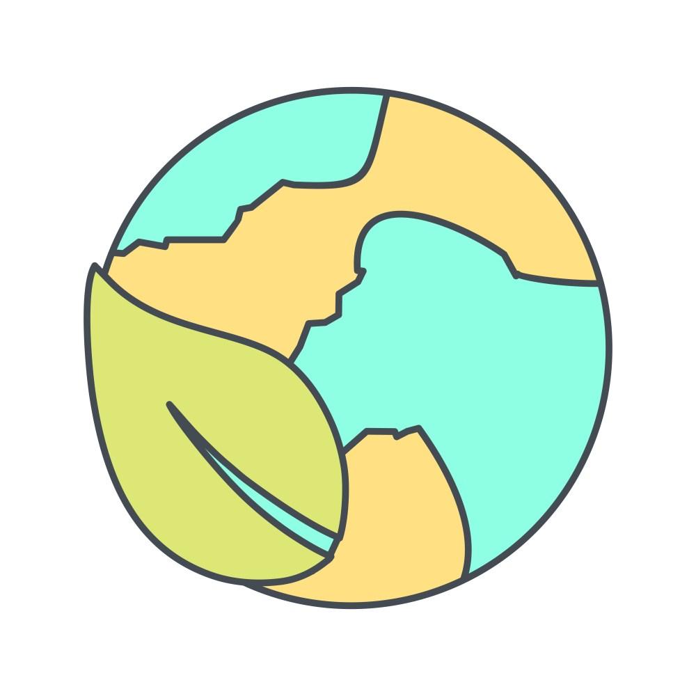 medium resolution of eco world vector icon
