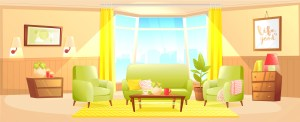 living interior banner clipart vector cartoon background classic empty graphics cliparts vectors lounge estate decor apartment agents clipground wooden modern