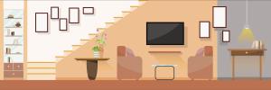 living illustration vector flat furniture interior modern vecteezy clipart graphics