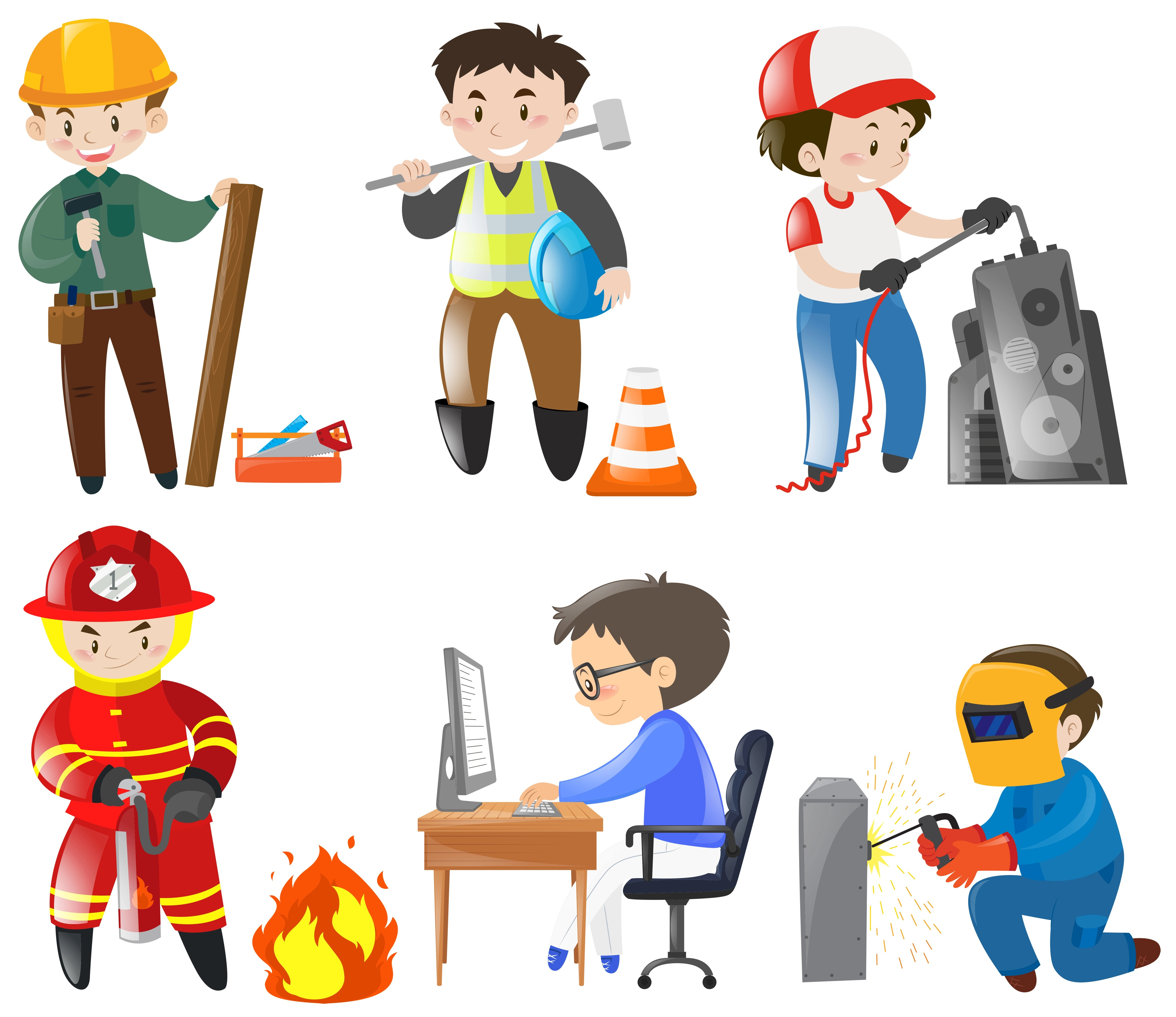 People Working Different Jobs