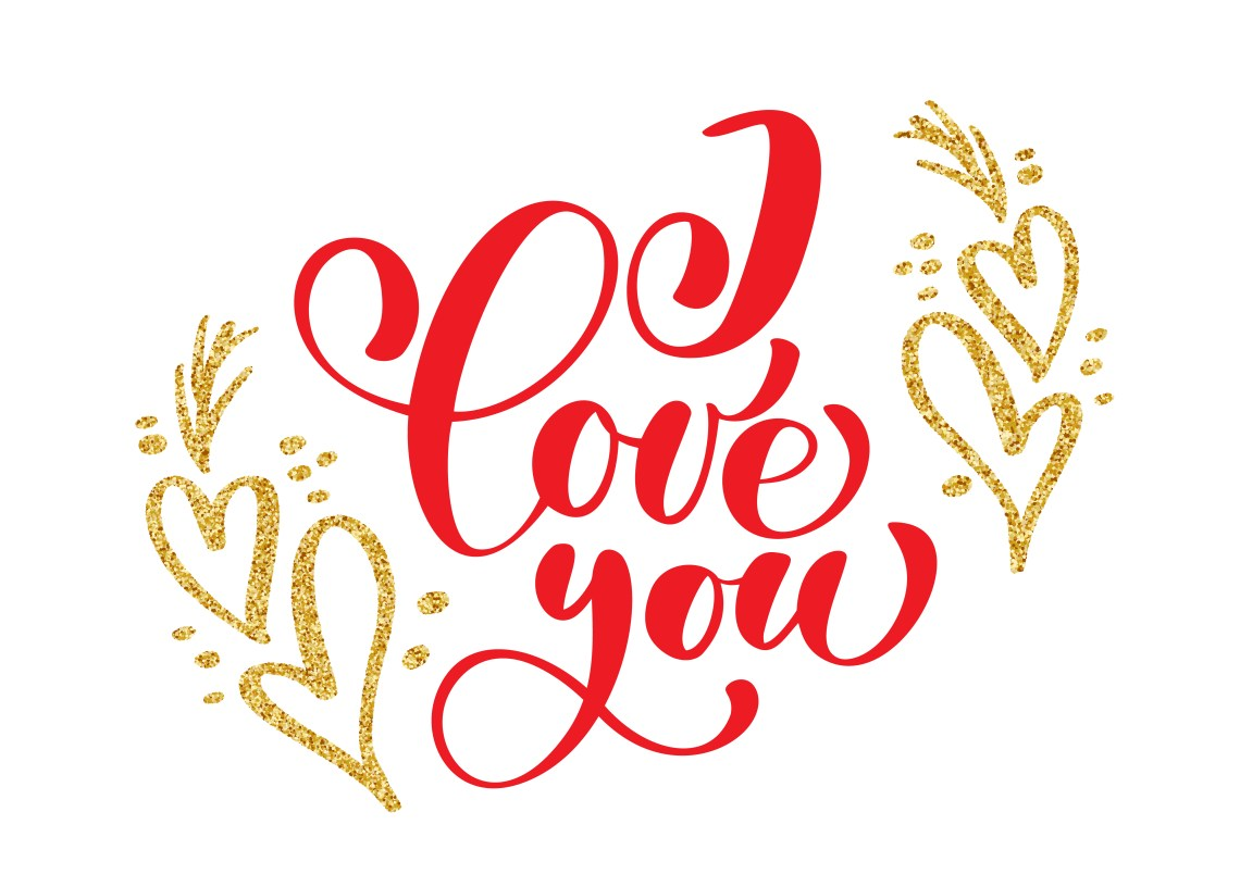 Download Hand written inscription I love you on the background of ...
