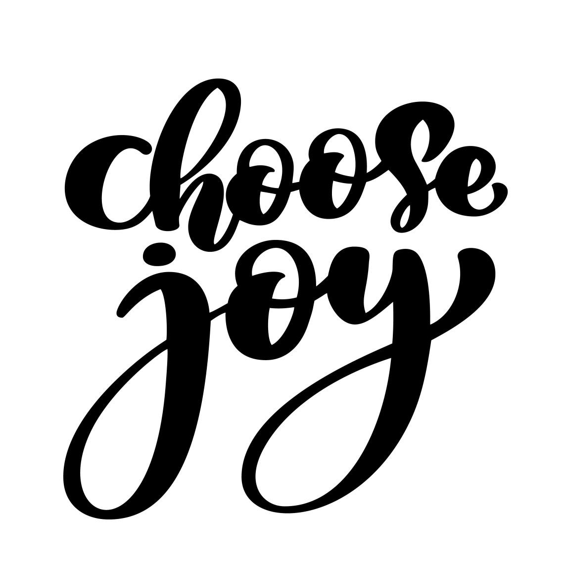 Download choose joy hand lettering inscription positive quote ...