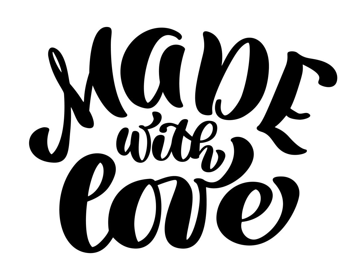 Download Made with love Trendy hand lettering quote, fashion ...