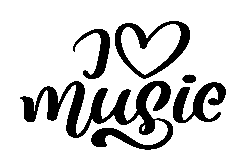 Me Encanta La Musica Tipo De Letra Moderna Caligrafia