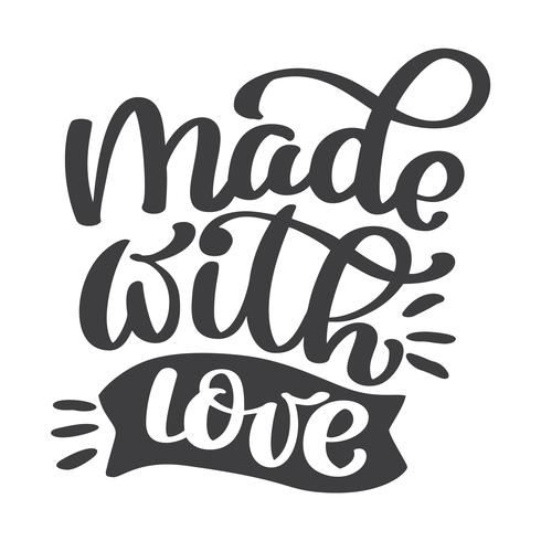 Download Made With love hand lettering - Download Free Vectors ...