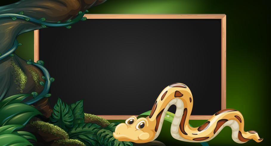 Cute Baby Lizards Wallpaper Blackboard With Snake In Jungle As Background Download