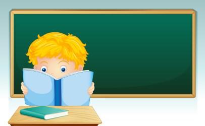 boy classroom reading vector clipart system
