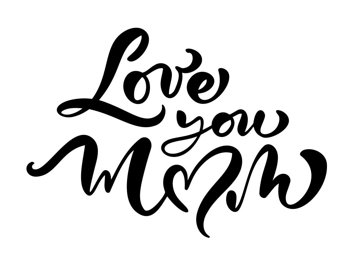 "Download ""Love you mom"" vector card - Download Free Vectors ..."