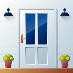 Front Door Background Vector Illustration Download Free Vectors Clipart Graphics & Vector Art
