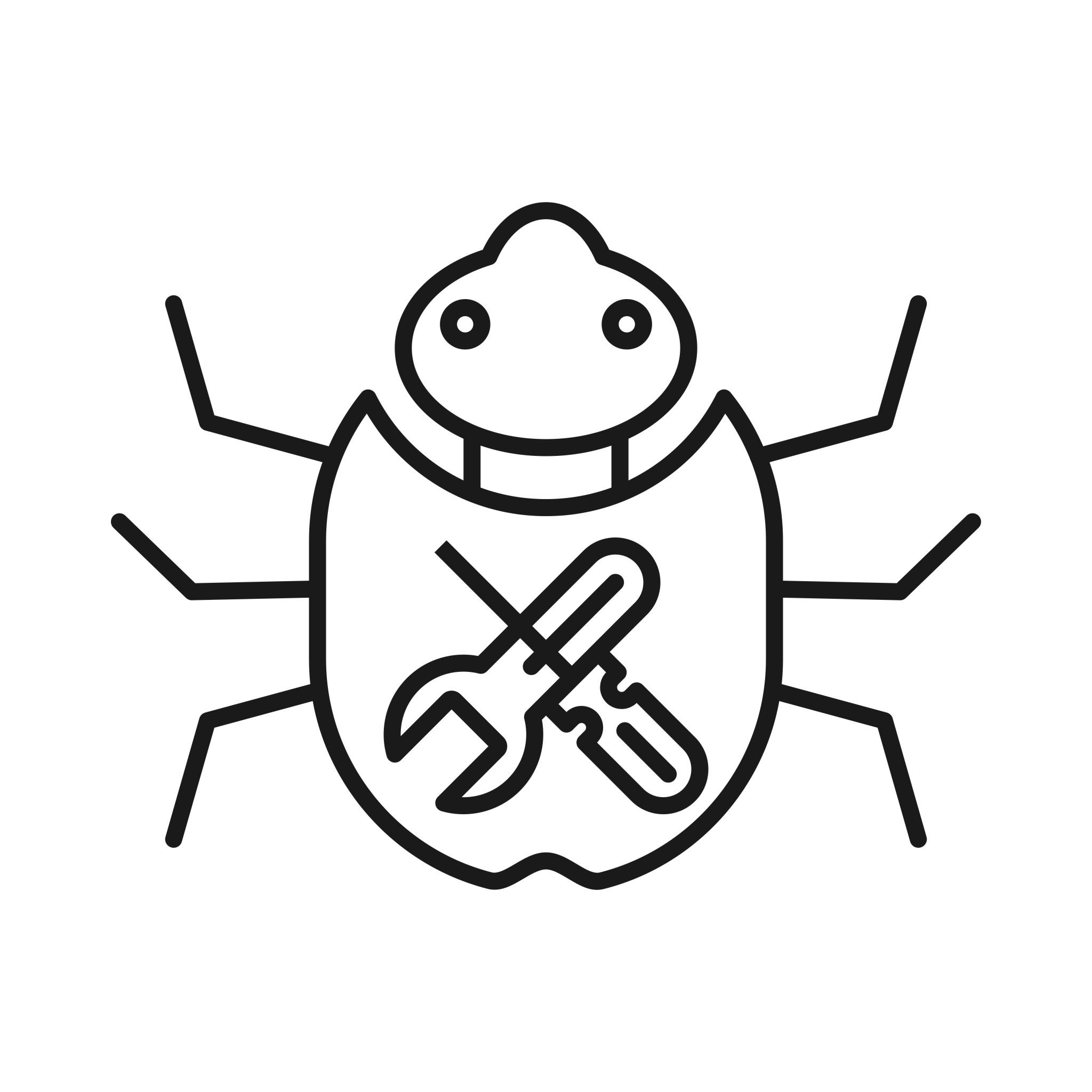 Bug Fixing Seo Line Icons