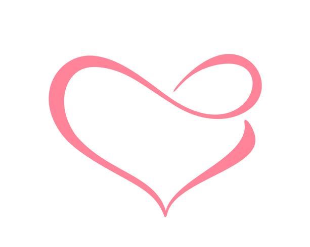 Download Love heart with sign of infinity. Icon for greeting card ...