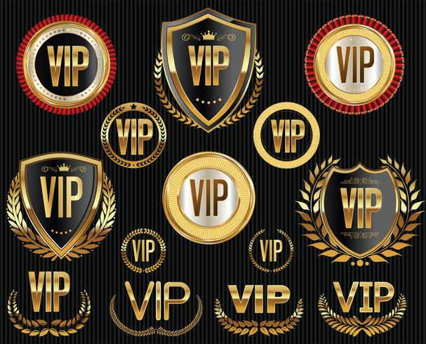 golden vip labels and