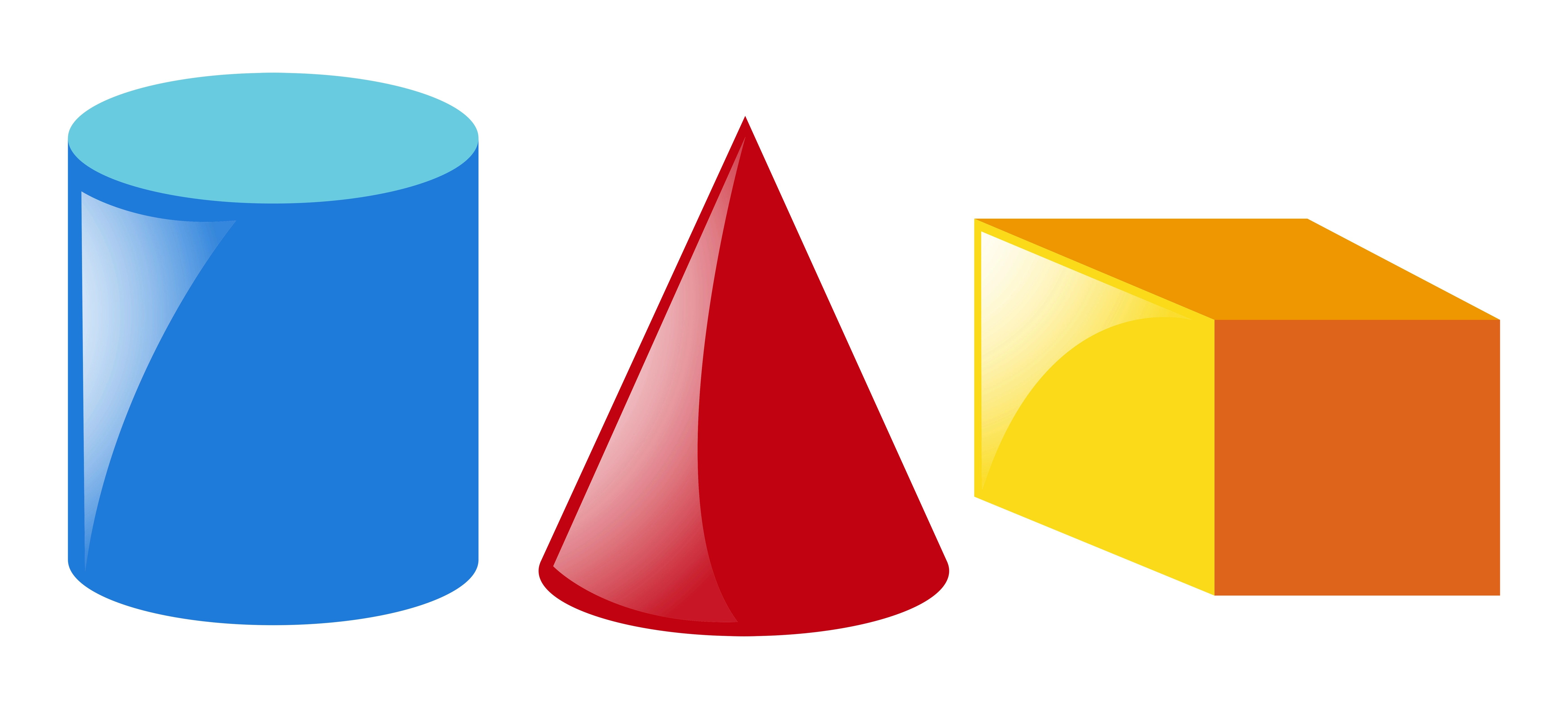 Geometric Shapes In Three Colors