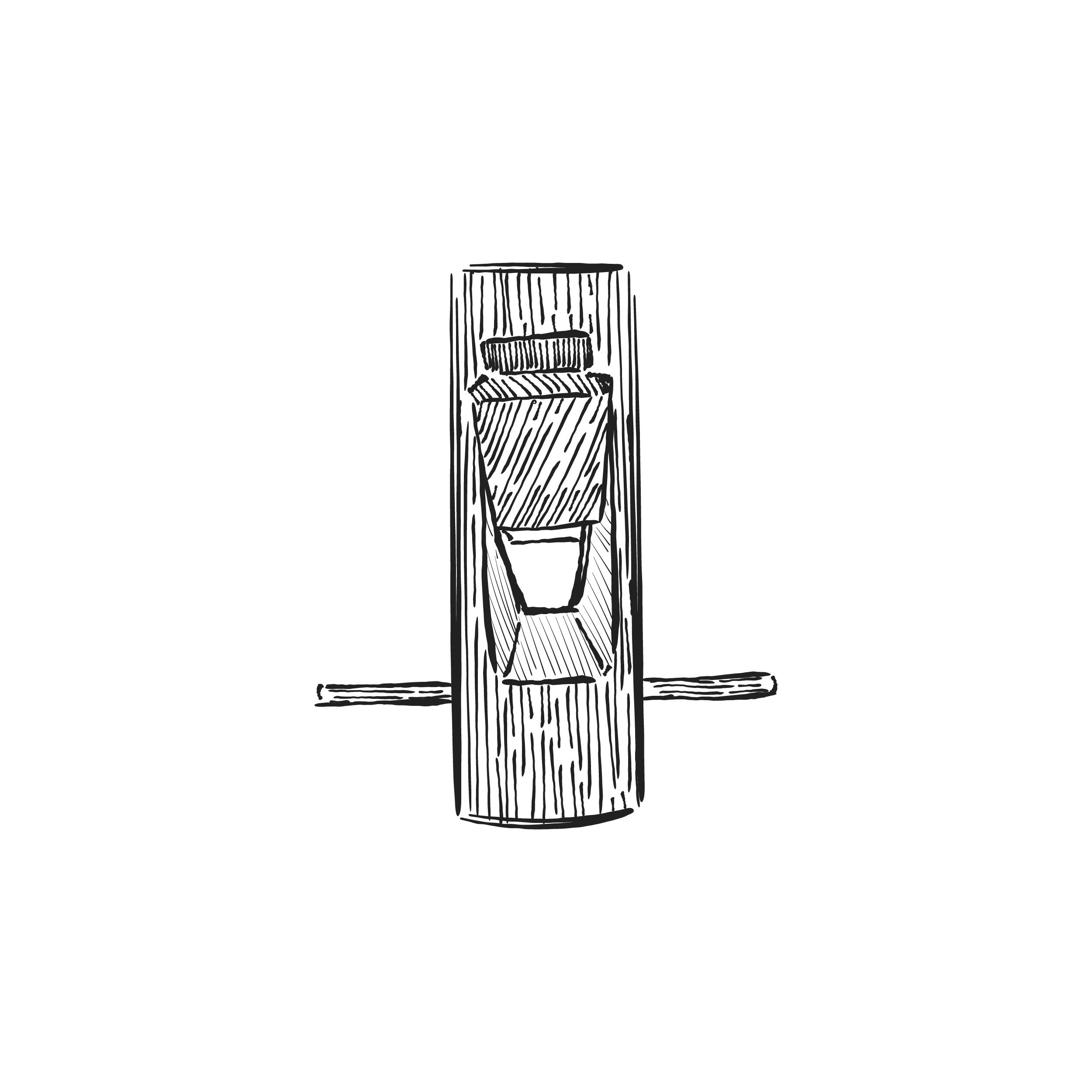 Vintage Illustration Of A Carpenter Tool