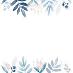 watercolor leaves border vector background space floral copy powerpoint frame clipart designs graphic flower spring backgrounds invitation vectors paint fleurs